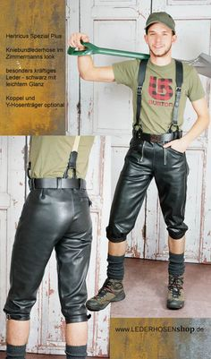 Short Sports Leather Pants Traditional Costume Leather Pants plattlerhose Brown Embroidered