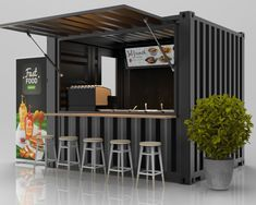 Container Conversions Shipping Container Conversions for Kiosk Design, Cafe Shop Design, Restaurant Interior Design, House Design, Signage Design, Design Design, Graphic Design, Container Coffee Shop, Container Shop