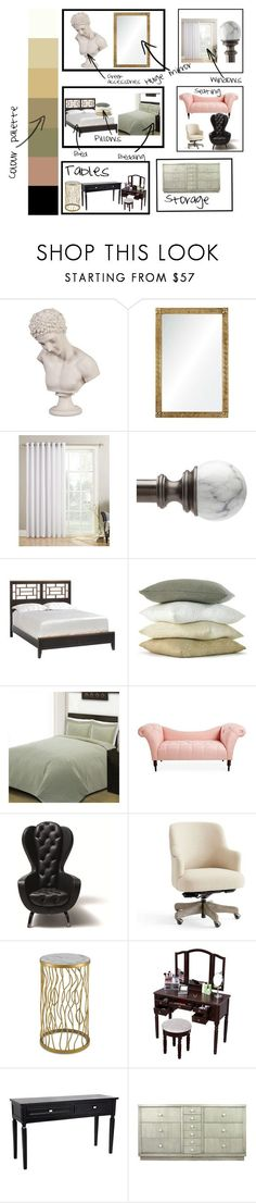 """My ideal bedroom"" by ltguuk ❤ liked on Polyvore featuring interior, interiors, interior design, home, home decor, interior decorating, Howard Elliott, Barclay Butera, Lichtenberg and Liz Claiborne"