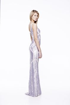 Society dress in Nude #eileenkirby #sequins #shine #prom #formal #eveninggowns #gowns #silver #eveningwear