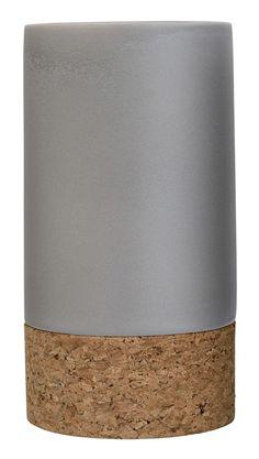 Ceramic Vase with Cork Bottom