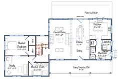 Bailey Island Cottage Level One Floor Plans