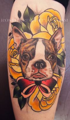 Pinned for the roses. But I keep seeing Boston terriers....it must be a sign :)