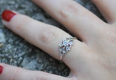 Hey, I found this really awesome Etsy listing at https://www.etsy.com/listing/167615964/sterling-silver-filigree-flower-ring