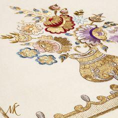 Nahide Küçük Embroidery - shop.nahidekucuk.com #luxuryartsandcrafts #royalartsandcrafts #royalembroidery #artisan #luxuryhouseitems #collectorsofart #luxuryheritage #luxurylife #handmade #goldart #modernart #artcollector #embroidery #homedecor #fineart #art #saatchiart