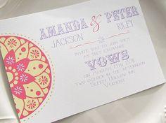 """sunburst"" vintage wedding invitation- choose from 32 colors or get a custom match."