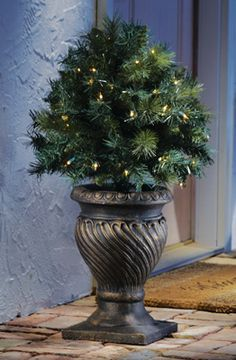 "28"" Lighted Topiary Ball Tree Stake - Holiday Entryway"