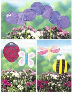 LAWN FLAG Sewing Pattern ~ Butterfly Ladybug Bumble Bee Firefly Caterpillar #PATTERNS4YOU