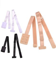 Bra Strap Converter Adjustable Bra Extension Women Low Back Fully Hook Bra Lingerie Extension Straps closure and fastener nude bra fasteners Women's Low Back Bra Converter for party backless dress with 2 Hook New with High Quality Mater. Low Back Bra Converter, Backless Shirt, Backless Dresses, Sticky Bra, Low Back Dresses, Lingerie Accessories, White Beige, Black White, Plunge Bra