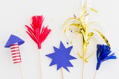 Spark Your July Fourth Cocktails with Firework Drink Stirrers | eHow Crafts