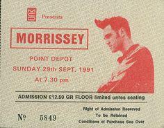 Morrissey ticket stub