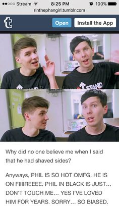 i knew dan had shaved sides for the longest time tho????? BUT YES THEY ARE ATTRACTIVE GOOD JOB FIGURING THAT OUT EVERYBODY YOURE ALL DISMISSED