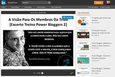Quando começamos a partilhar uma visão ela ganha forma nas nossas mentes. A clareza aumenta, vemos o futuro mais nítido. Desta nitidez saem decisões. Destas decisões saem ações, e, destas ações sai a realização da visão. Assim é simples.  http://www.slideshare.net/ruimatosgabriel/a-viso-para-os-membros-da-tribo-excerto-treino-power-bloggers-2