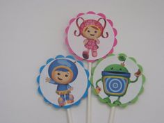 Umi Zoomi cupcake toppers - $6