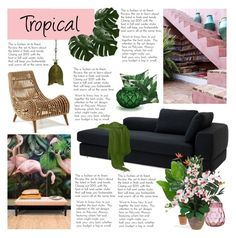 """Tropical Decor"" by artilistic ❤ liked on Polyvore featuring interior, interiors, interior design, home, home decor, interior decorating, Eichholtz, Lalique, Lenox and Nearly Natural"
