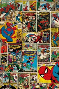 "The Amazing Spider-Man Comic Collage - Marvel Comics 61cm x 91.5cm (24"" x 36"") Poster £3.99"