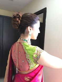 Latest pattu saree blouse designs to try in 2019 blouse patterns for silk sarees latest pattu saree blouse designs to try in 2019 blouse patterns for silk sarees bling sparkle. Blouse Back Neck Designs, Pattu Saree Blouse Designs, Stylish Blouse Design, Silk Saree Blouse Designs, Fancy Blouse Designs, Bridal Blouse Designs, Silk Sarees, Pattern Blouses For Sarees, Traditional Blouse Designs
