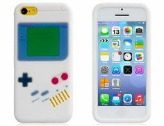 Vintage Game Console Design Silicone Case for iPhone 5C (White) $7.95