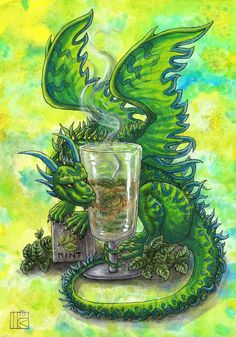 Mint by Kirsch-vanderWit on DeviantArt Dragon Images, Dragon Pictures, Magical Creatures, Fantasy Creatures, Fantasy Dragon, Fantasy Art, Pet Dragon, Fire Dragon, Cute Dragon Drawing
