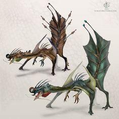 Leafy Dragon by V4m2c4 on DeviantArt