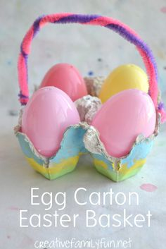 Egg Carton Easter Basket ~ Creative Family Fun