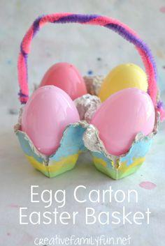 Egg Carton Easter Basket ~ Creative Family Fun