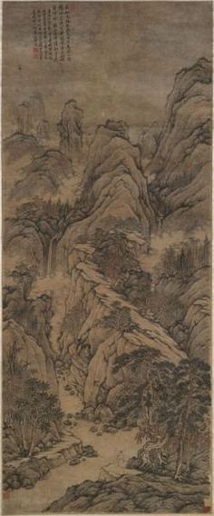 Chinese Paintings from the Henricksen Collection:  Huang Ding Chinese, 1660-1730 Lofty Mt. Lu After Shen Zhou, 1726 Hanging scroll, ink and slight color on paper Lent by Mrs. Rodney P. Henricksen