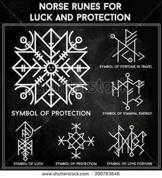 Norse runes for luck & protection.