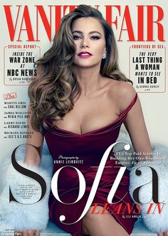 Take center stage: Sofia Vergara strikes a sultry pose on the cover of Vanity Fair's May i...