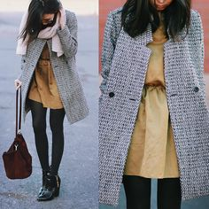 Somemoment Coat, Topshop Scarf, Somemoment Dress