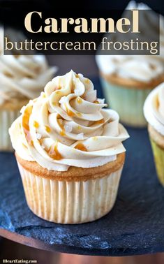Sweet and salty caramel buttercream frosting makes a delicious topping for chocolate, pumpkin, apple, or vanilla cake!