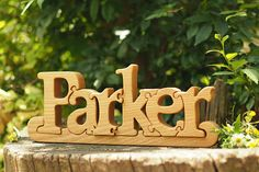 Personalized wooden name puzzle newborn baby kids gift