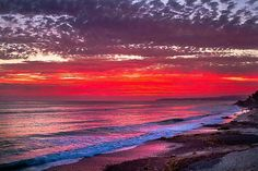 """Fire and Water"" Sunset in San Clemente, California"