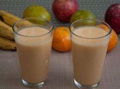 Receita de vitamina emagrecedora de maçã, aveia, chia e linhaça