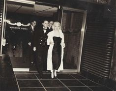 Candid MM leaving the Astor Hotel, NYC