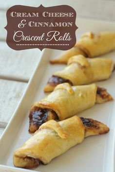 Cream Cheese and Cinnamon Crescent Rolls. This is my hubbys favorite treat! { lilluna.com }