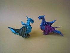 Origami little dragon by Alexander Kurth. How to fold origami little dragon from… Origami Ball, Instruções Origami, Origami And Quilling, Origami And Kirigami, Origami Dragon, Paper Crafts Origami, Origami Folding, Useful Origami, Oragami