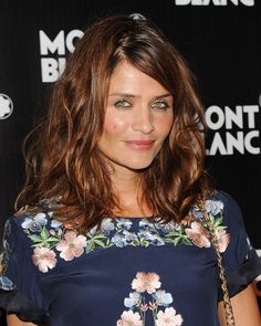 Helena Christensen Photos Photos: Global Launch of The Montblanc John Lennon Edition – Red Carpet - jacnir. Top Models, Red Copper Hair Color, Hair Colour, Medium Hair Styles, Curly Hair Styles, Chestnut Hair, Helena Christensen, Dream Hair, Gorgeous Hair