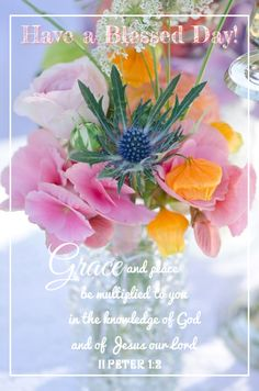 Have a Blessed Day 2 Peter Good Morning Good Night, Morning Wish, Good Morning Quotes, Morning Verses, Morning Thoughts, Birthday Greetings, Birthday Wishes, Happy Birthday, Thursday Greetings