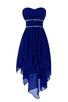 Bess Bridal Womens Beaded High Low Chiffon Prom Homecoming Dresses US8 Royal Blue *** You can get additional details at the image link.