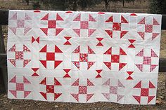 love red & white quilts