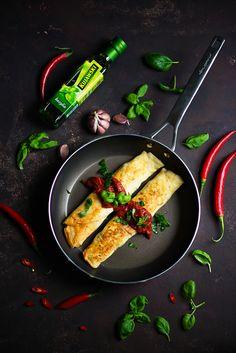 picante-jalapeno.blogspot.com: Recenzja patelni Florina Oil Control i przepis na naleśniki z brokułem, serem ferta i kurczakiem, w sosie pomidorowym Grill Pan, Control, Grilling, Griddle Pan, Crickets