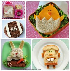 See all the Easter-themed food you can make for the kids-Making food fun means they just might eat it!