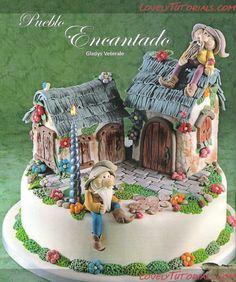 -Magical Houses cake tutorials - Мастер-классы по украшению тортов Cake Decorating Tutorials (How To's) Tortas Paso a Paso
