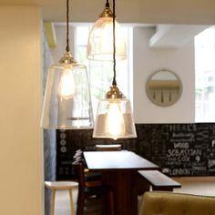 Glass Tapered Antique Brass Pendant Lights   Pendants   Pendants & Chandeliers   Lighting   Heal's