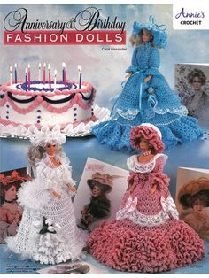 Anniversary & Birthday Fashion Dolls Crochet Patterns