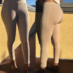 Nude Biker Style Leggings Nude Leggings with Racer Style on both sides. Fit Size S/M extremely well. Pants Leggings