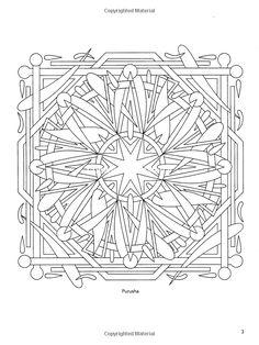 Sacred Yantra Coloring Book (Dover Design Coloring Books): Wil Stegenga: 9780486470818: Amazon.com: Books