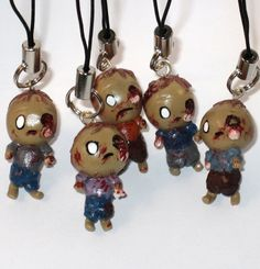 Zombie Brains Polymer Clay Charm You Choose by LisasArtEndeavors, $6.00