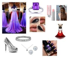 """Purple prom look"" by olivia-huffer on Polyvore"